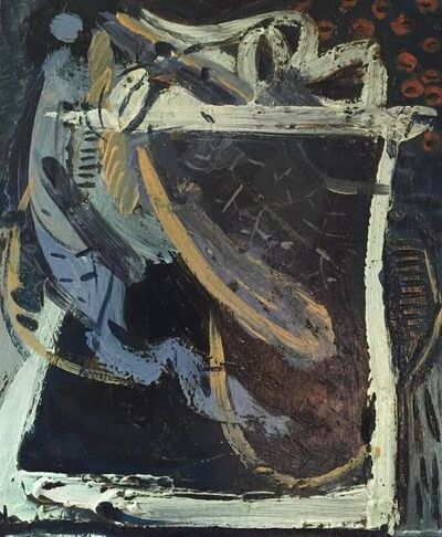 Maurice Cockrill, 'Rare Bronze Sculpture Painted Cast Study for Antartica Abstract Expressionist', 1990-1999