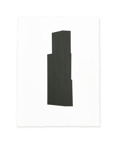 Jeff Kellar, '4 white w/black 2', 2018