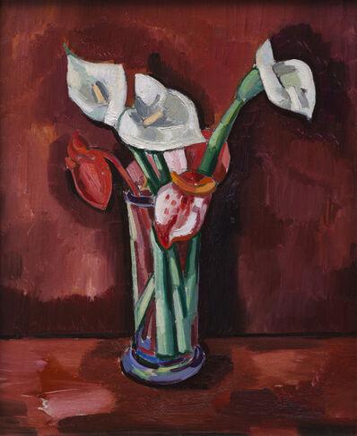 Marsden Hartley, 'Calla Lillies in a Vase', 1928