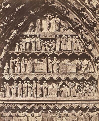 Bisson Frères, 'Cathédrale d'Amiens, Tympan de l'une des Porte', 1854 / 1854