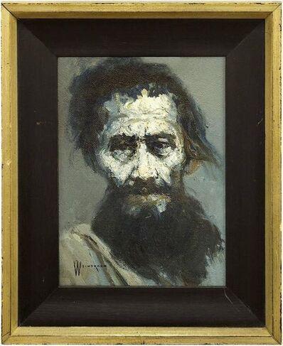 William Weintraub, 'Portrait of a Man, Mid Century Expressionast Israeli Painting', 20th Century