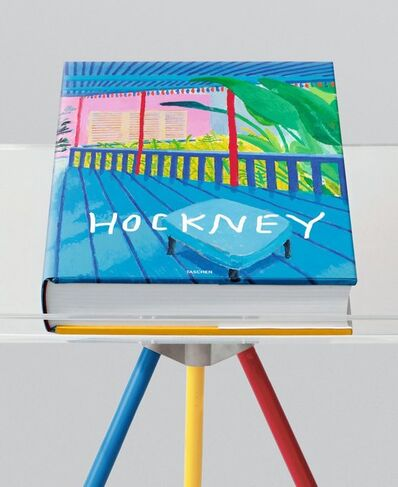 David Hockney, 'David Hockney A Bigger Book Hand Signed Taschen Sumo with Marc Newson Bookstand', 2016