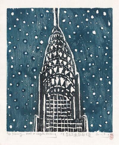 Su-Li Hung, 'February, Snow on Chrysler Building.', 2018