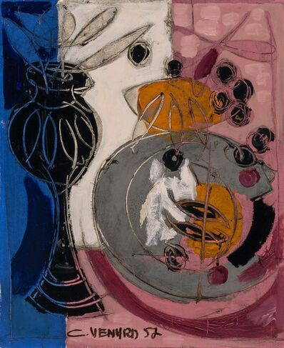 Claude Venard, 'Still Life with Black Vase', 1952