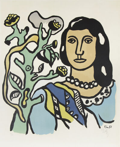 Fernand Léger, 'Le Femme et la Fleur', 1954
