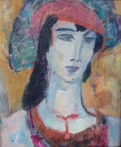Gerrit Hondius, 'Woman With Hat', ca. 1950