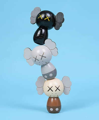 KAWS, 'HOLIDAY JAPAN Limited Kokeshi Doll Set (Set of 3)', 2019