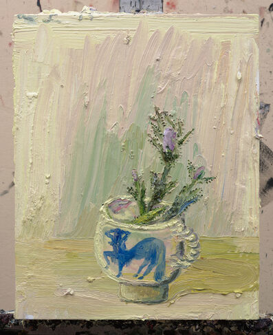 Allison Schulnik, 'Thistle in Centaurette Cup', 2017