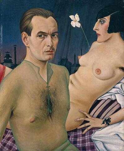 Christian Schad, 'Self-Portrait (Selbstbildnis mit Modell)', 1927