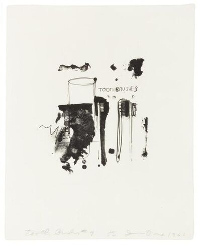 Jim Dine, 'Toothbrushes #4', 1962