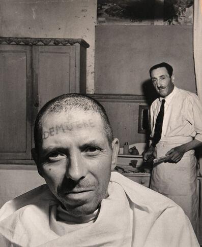 Robert Doisneau, 'Man with Tattooed Forhead', ca. 1950