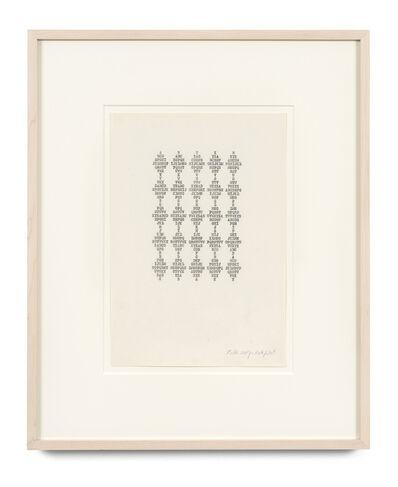 Ruth Wolf-Rehfeldt, 'Alphabet', 1975