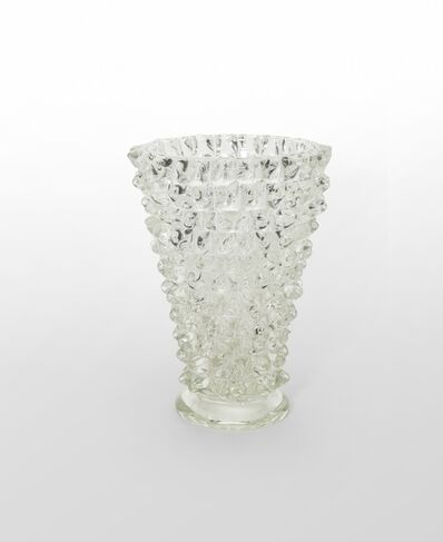 FERRO TOSO BAROVIER, 'A rostrated crystal vase', 1938