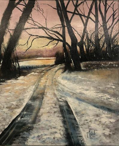 Patrick NEVOSO, 'Bords d'Allier sous la neige à Brassac', 2018