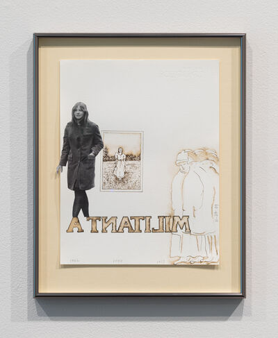 Faith Wilding, 'Militanta (Faith out of jail with her mom's wedding picture and some suffragettes)', 2009