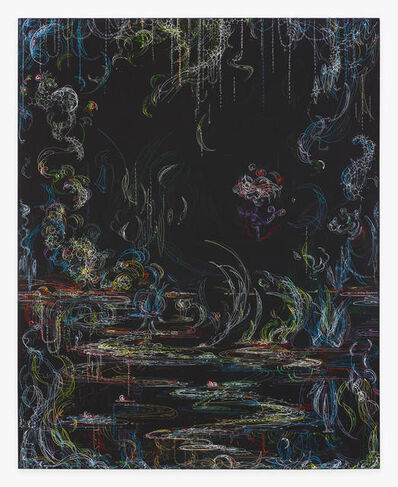 Kysa Johnson, 'blow up 371 - Crude (metamorphosis) - phytoplankton and chemical components of petroleum after Monet', 2019