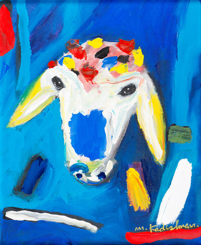 Menashe Kadishman, 'blue Sheep', ca. 2010