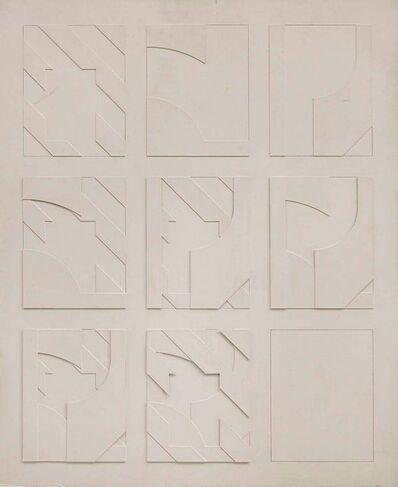 Jean-Pierre Maury, 'Concstructivist Concrete Monochrome Assemblage Wall Sculpture Painting', 1970-1979