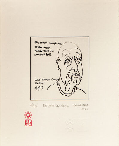 LEONARD COHEN, 'The Inner Sweetness ', 2012
