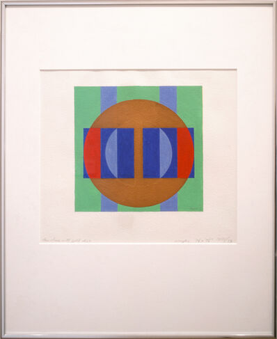 Herbert Bayer, 'Structure with Gold Disc', 1971