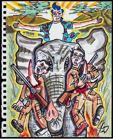 Jim Carrey, 'Team Elephant', 2018