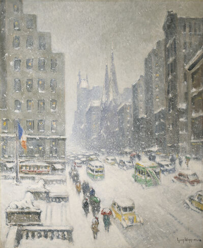 Guy Carleton Wiggins, 'At the Library, New York'