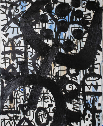 Victor Ekpuk, 'Composition in Black 2 ', 2019