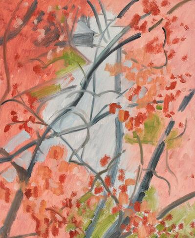 Lois Dodd, 'Pink + Grey', 1988