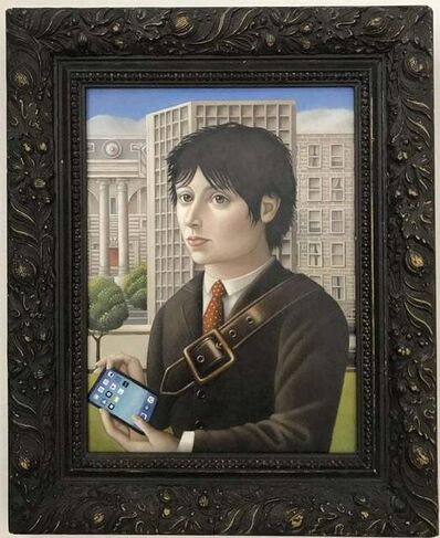 "Amy Hill, '""Man with Ipad""Contemporary Reanissance Portrait', ca. 2016"