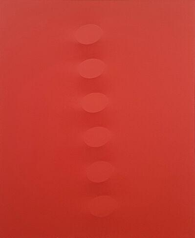 Turi Simeti, '6 ovali rossi', 2018