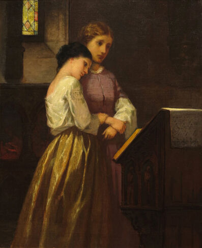 William Morris Hunt, 'The Listeners', ca. 1859