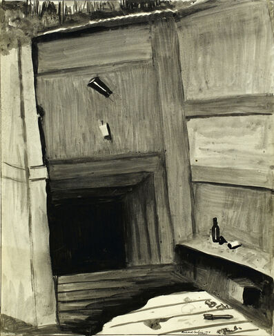 Carline Richard, 'A dug-out at Ovillers', 1918