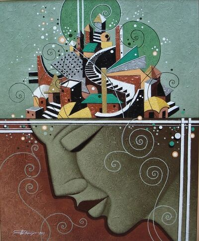 Somnath C Banerjee, 'Couple-1', 2005