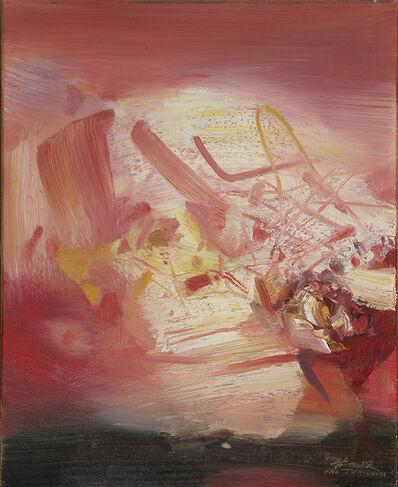 Chu Teh-Chun, 'Fond Rouge', 1984
