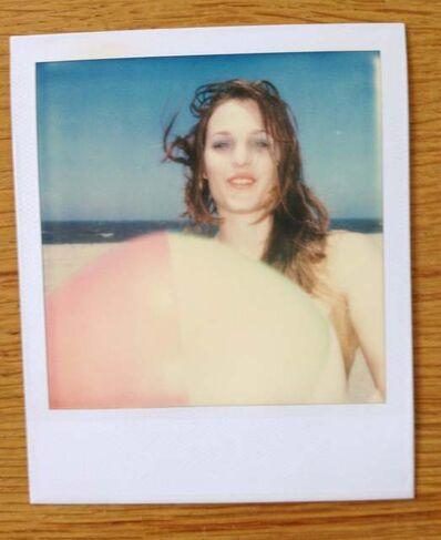 Stefanie Schneider, 'Camille with Beach Ball (Beachshoot) - Original Polaroid Unique Piece', 2005