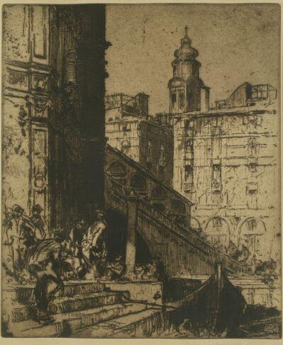 Sir Frank Brangwyn, 'Rialto Boatmen, Venice', ca. 1910