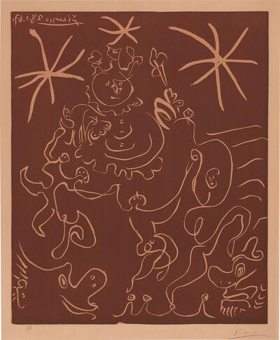 "Pablo Picasso, 'Carnaval 1967 ""Clown et danseurs"" (Carnival 1967 ""Clown and Dancers"") (Bl. 1242, Ba. 1852)', May 1905"