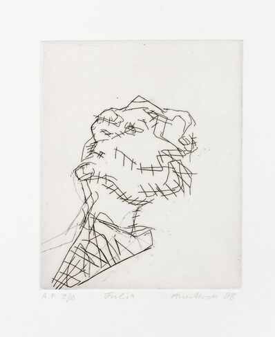 Frank Auerbach, 'Reclining head of Julia', 1998