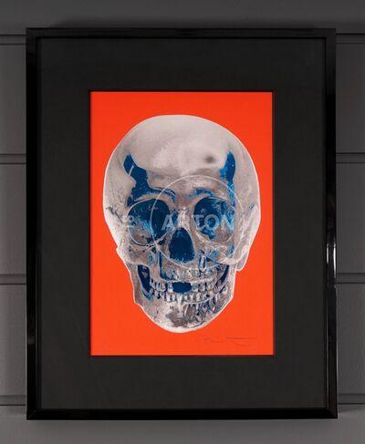 Damien Hirst, ''Till Death Do Us Part, Skull, Red/Silver', 2012