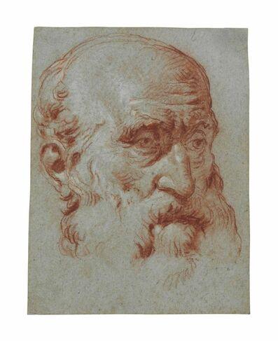 Giambattista Tiepolo, 'Head of Giulio Contarini, in three-quarter profile, after Alessandro Vittoria'