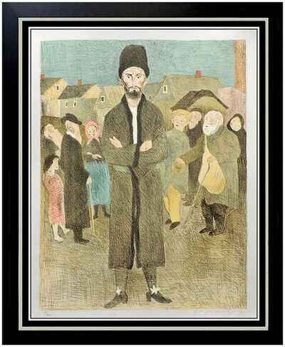 Raphael Soyer, 'Raphael SOYER Signed DELUXE Color Lithograph Isaac Singer The Gentleman Artwork', 1970-1989