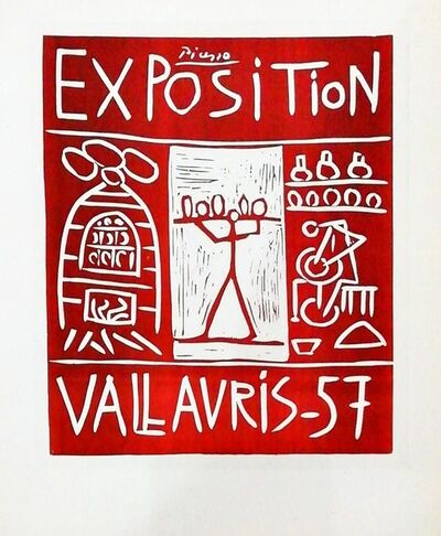 Pablo Picasso, 'Exposition Vallauris - with figure', 1959