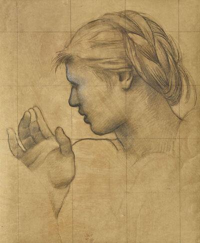 Pierre Puvis de Chavannes, 'Etude pour Sainte Geneviève enfant en prière', 1876