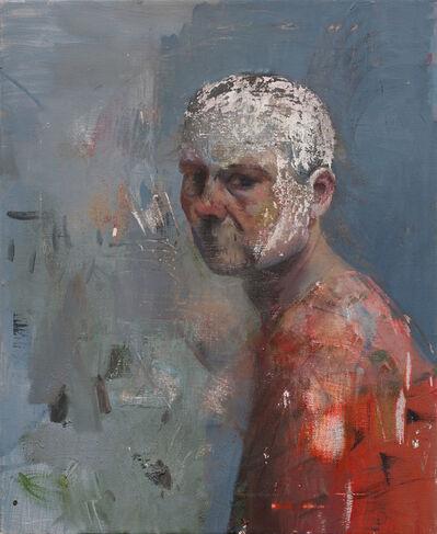Daniel Pitin, 'Self portrait with a white head', 2018