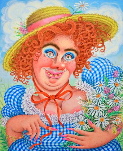 Rebecca Morgan, 'Sweet Gingham'd Daisy Picker', 2017