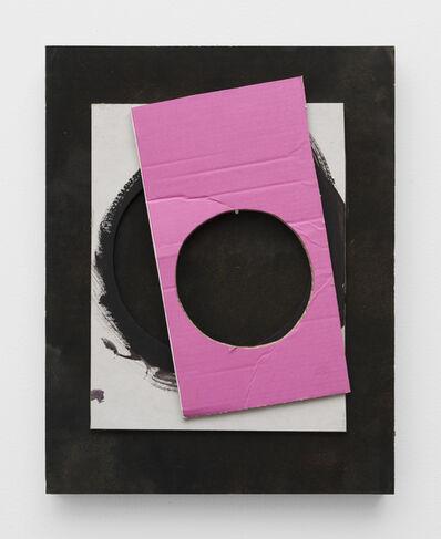 Lecia Dole-Recio, 'Untitled (pink stencil, gall stencil, nail)', 2019