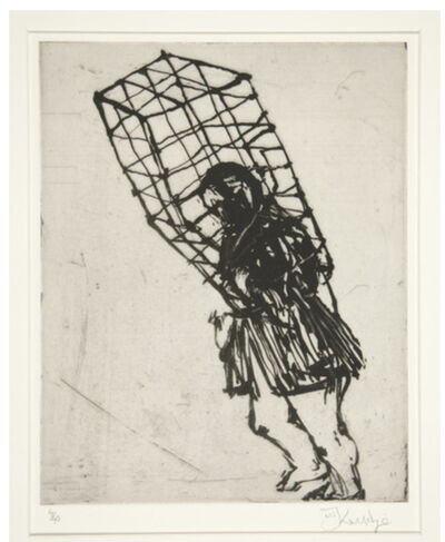 William Kentridge, 'Caged Woman (Zeno at 4 a.m.)', 2001
