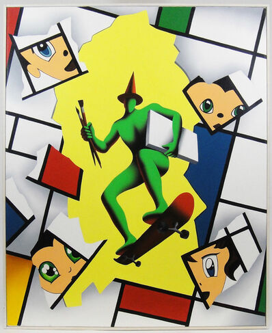 Mark Kostabi, 'Overconfidence on wheels', 2007