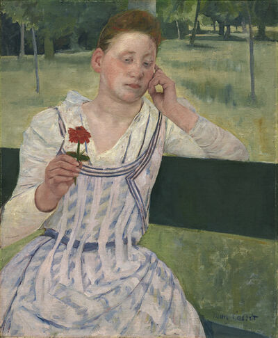 Mary Cassatt, 'Woman with a Red Zinnia', 1891