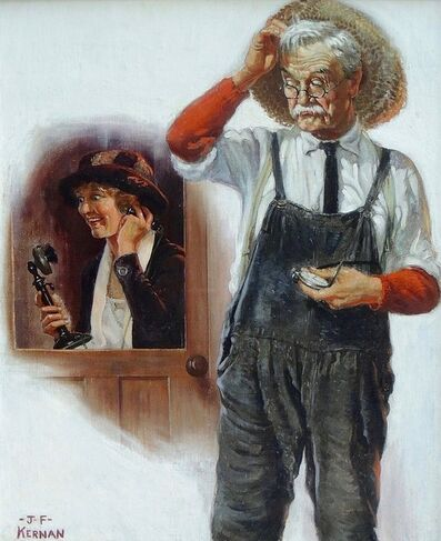 Joseph Francis Kernan, 'The Phone Call, Country Gentleman Magazine Cover', 20th Century